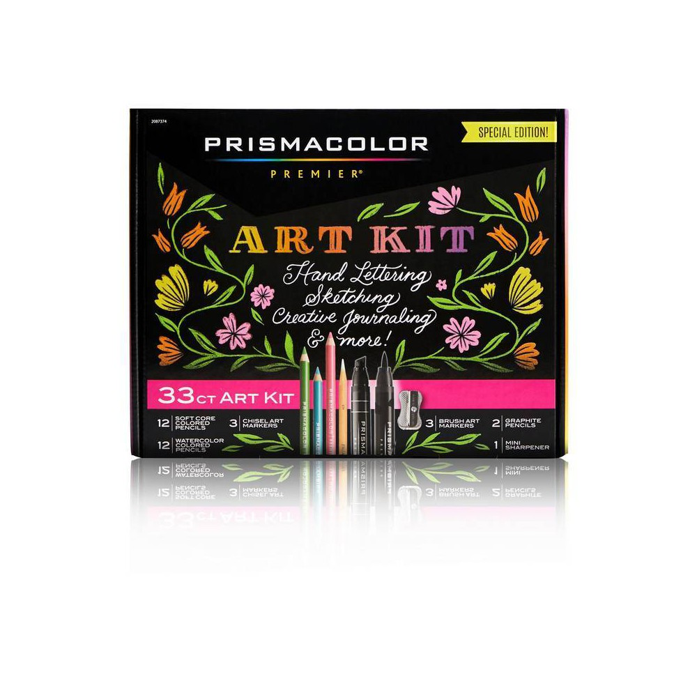 Image of 33pc Prismacolor Premier Marker & Colored Pencil Art Kit