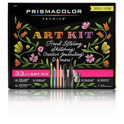 33pc Prismacolor Premier Marker & Colored Pencil Art Kit