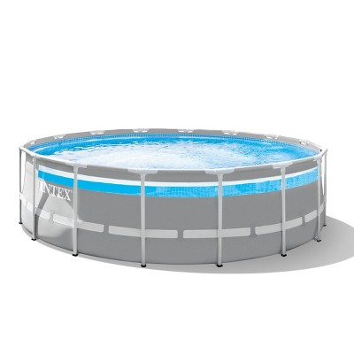 "Intex 192""x192"" Prism Frame Pool with Window - Gray"