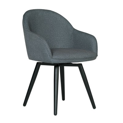 Dome Swivel Armchair Charcoal Heather - Studio Designs Home