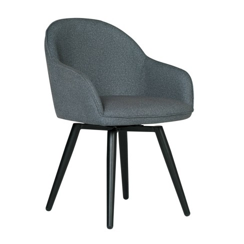 Dome Swivel Arm Chair Charcoal Heather - Studio Designs Home - image 1 of 4