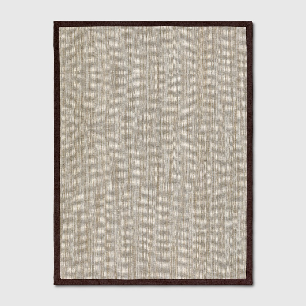 9'x12' Solid Woven Area Rug Red - Threshold