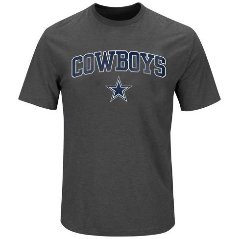 c965c116 Dallas Cowboys Men's Gray Dallas Cowboys Big & Tall T-Shirt 5XL