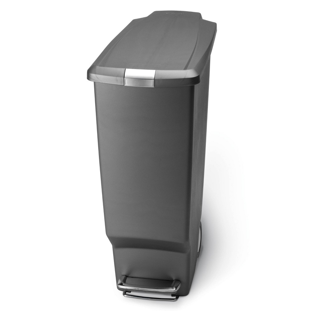 Discounts simplehuman 40L Slim Plastic Step Trash Can
