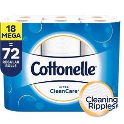 Cottonelle Clean Care Toilet Paper - Mega Rolls