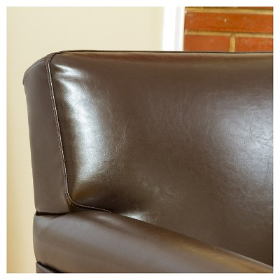 Leeds Classic Club Chair Brown - Christopher Knight Home : Target