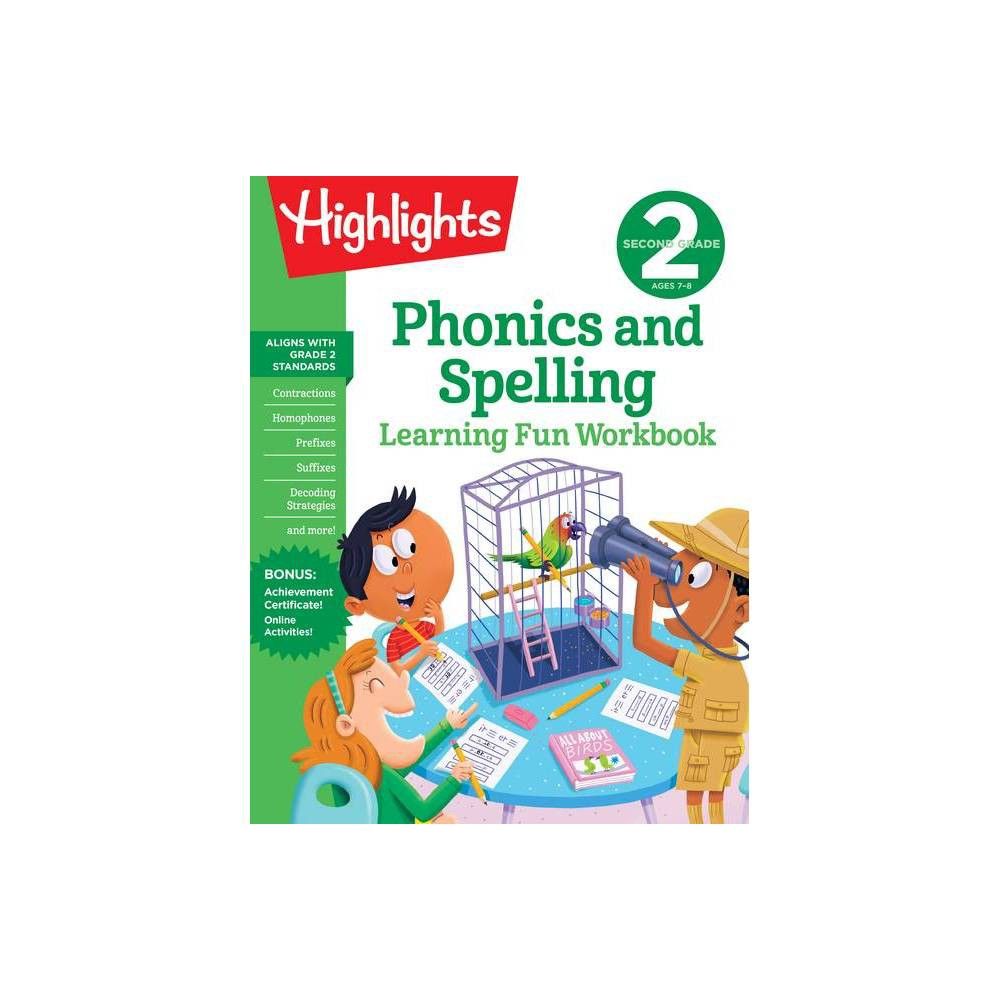 Second Grade Phonics And Spelling Highlights Learning Fun Workbooks Paperback