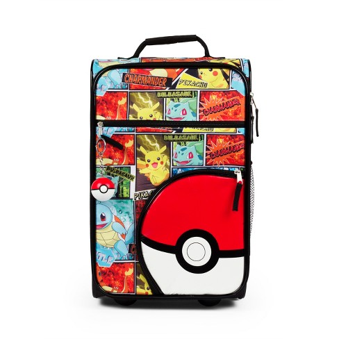 "Pokemon 18"" Rolling Carry On Suitcase With Pokeball Keychain - image 1 of 5"