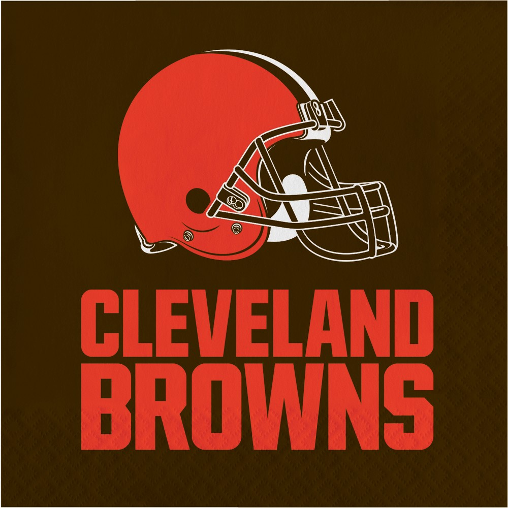 Image of 16ct Cleveland Browns Napkins, Multi-Colored