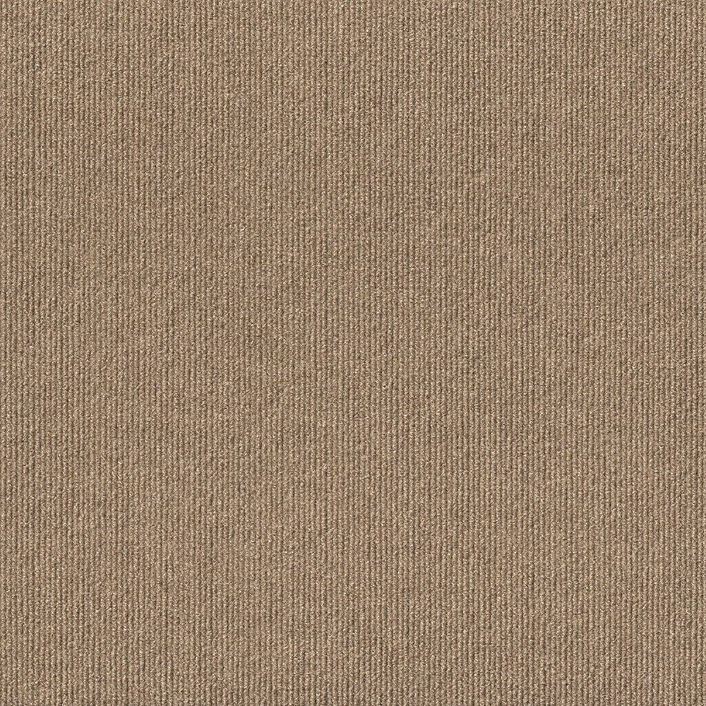 16pk Rib Carpet Tiles Taupe