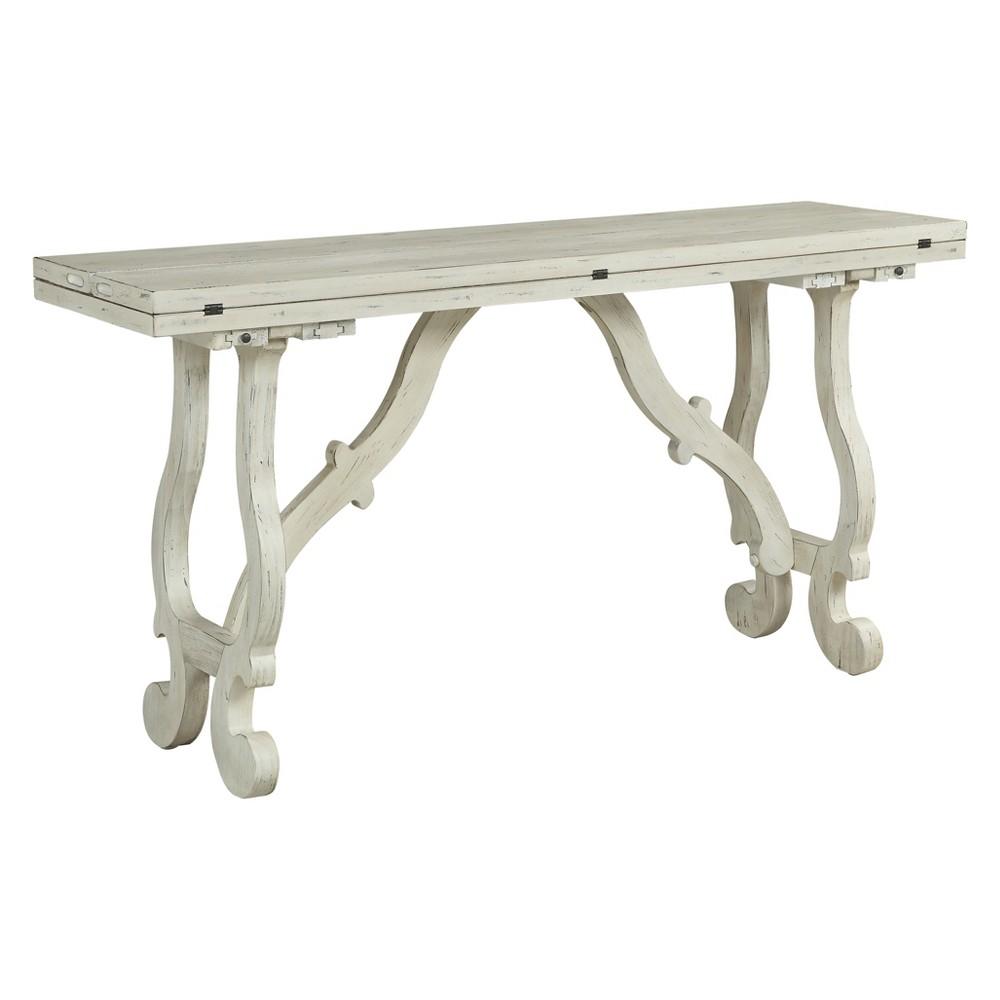 Image of Christopher Knight Home Orchard Park Fold Out Console White