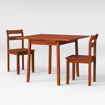 3pc Expandable Dining Set with Storage - Chestnut - Threshold™