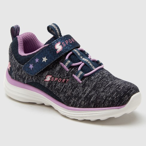 Toddler Girls' S Sport By Skechers Trudy Performance Athletic Shoes- Navy 9 - image 1 of 4
