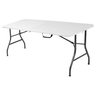 6 Foot Blow Molded Folding Table - White Speckle - Cosco