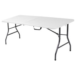 6 Foot Molded Folding Table White Speckle Cosco