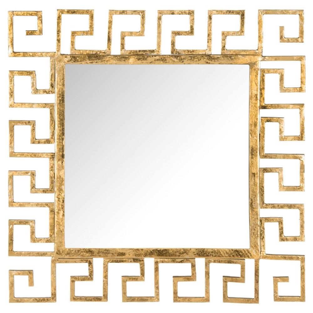 Square Calliope Greek Key Decorative Wall Mirror - Safavieh Compare