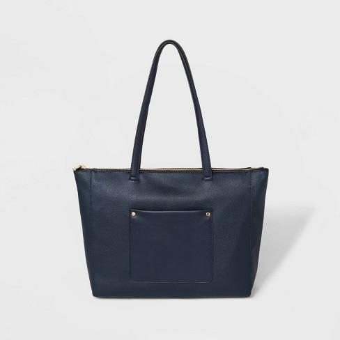 Zip Top Tote Handbag - A New Day™ - image 1 of 4