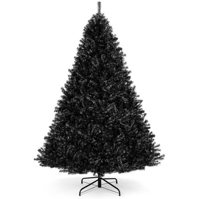 Best Choice Products 6ft Artificial Full Black Christmas Tree Holiday Decoration w/ 1,477 Branch Tips, Foldable Base
