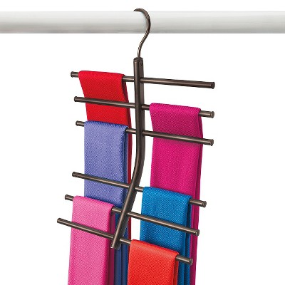 Lynk Hanging Tiered Scarf Holder - Closet Hanger - Organizer Rack - Bronze