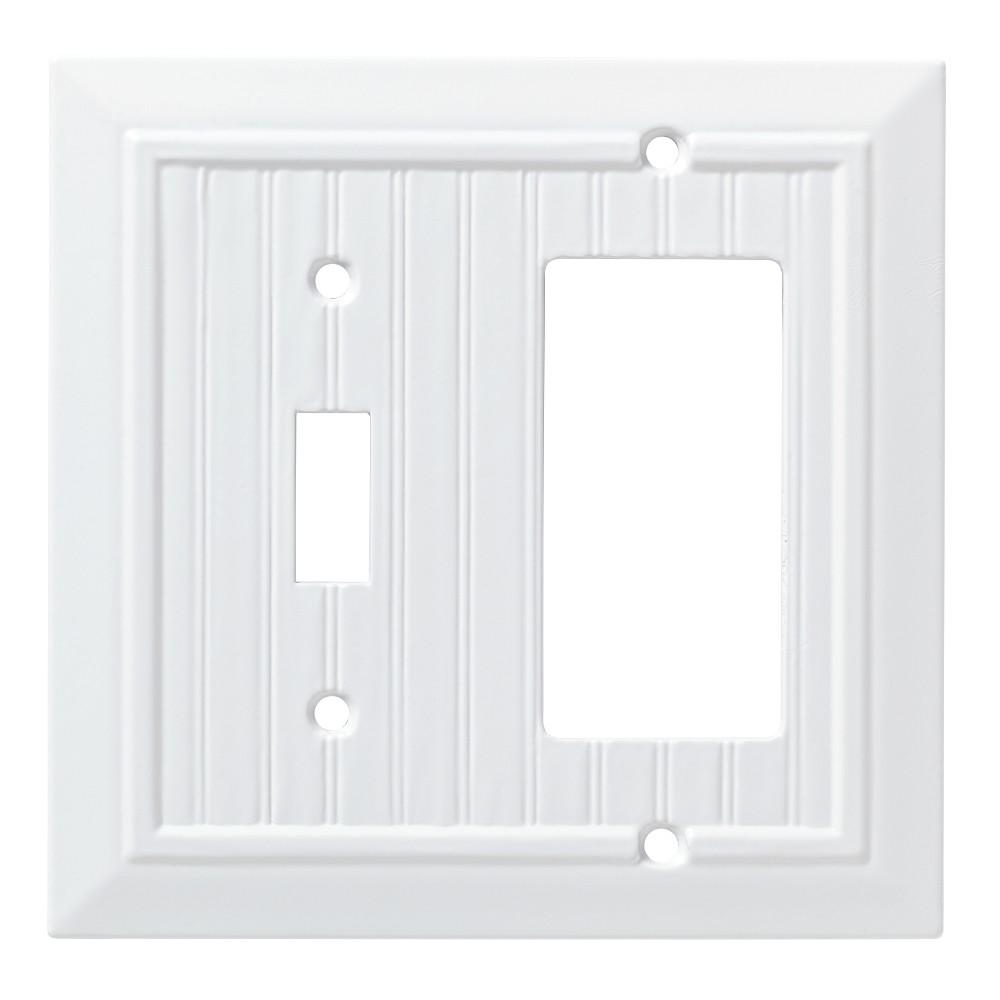 Classic Beadboard Switch/Decorator Wall Plate White - Franklin Brass