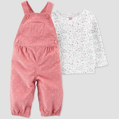 Baby Girls' 2pc Bear Top & Bottom Sets - Just One You® made by carter's Pink 3M