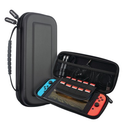 Insten For Nintendo Switch Carrying Case - Portable Hard Shell Travel Pouch with Hand Strap, Black