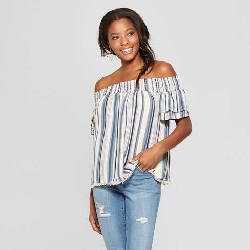 bb4f11160739 Women's Short Sleeve Tiered Off the Shoulder Top - Xhilaration™