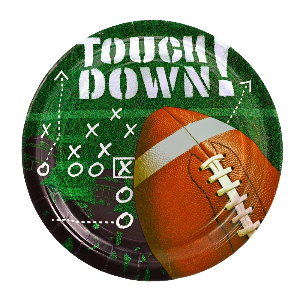 """Image of """"Touchdown 7"""""""" 50ct Football Frenzy Snack Plate"""""""