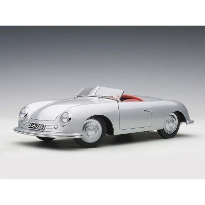 1948 Porsche 356 Number 1 Convertible Revised Edition Silver 1/18 Model Car by Autoart