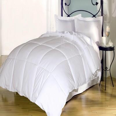 Blue Ridge Cotton Cover Cozy White Goose Down Luxury Comforter 240 Thread Count - White