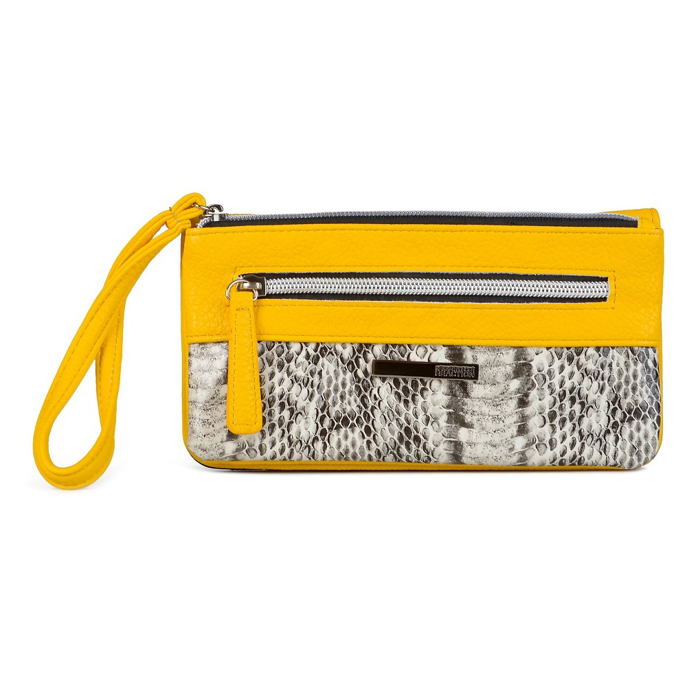 Wallet Kenneth Cole Yellow Snakeskin, Girl's