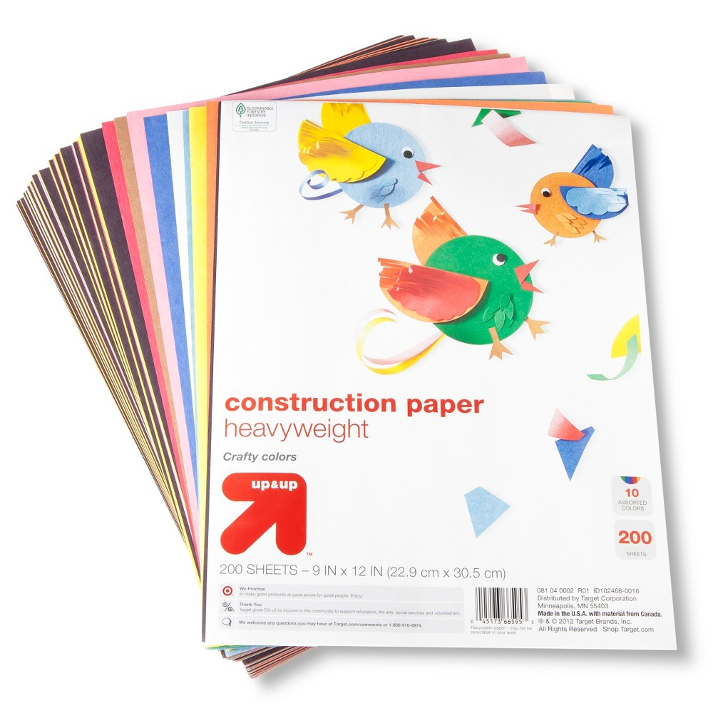 9x12 Construction Paper - 200ct Heavyweight - Up&Up