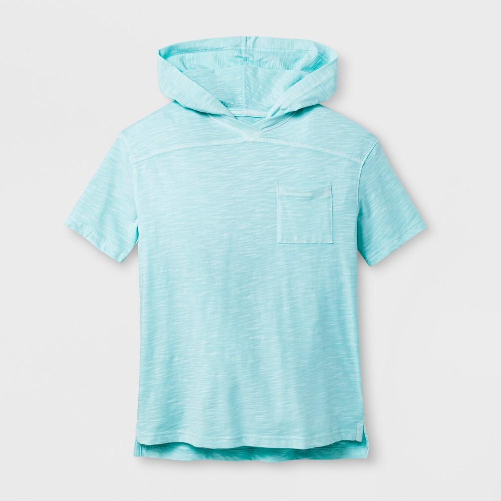 Boys' Short Sleeve T-Shirt - Cat & Jack Aqua L, Blue
