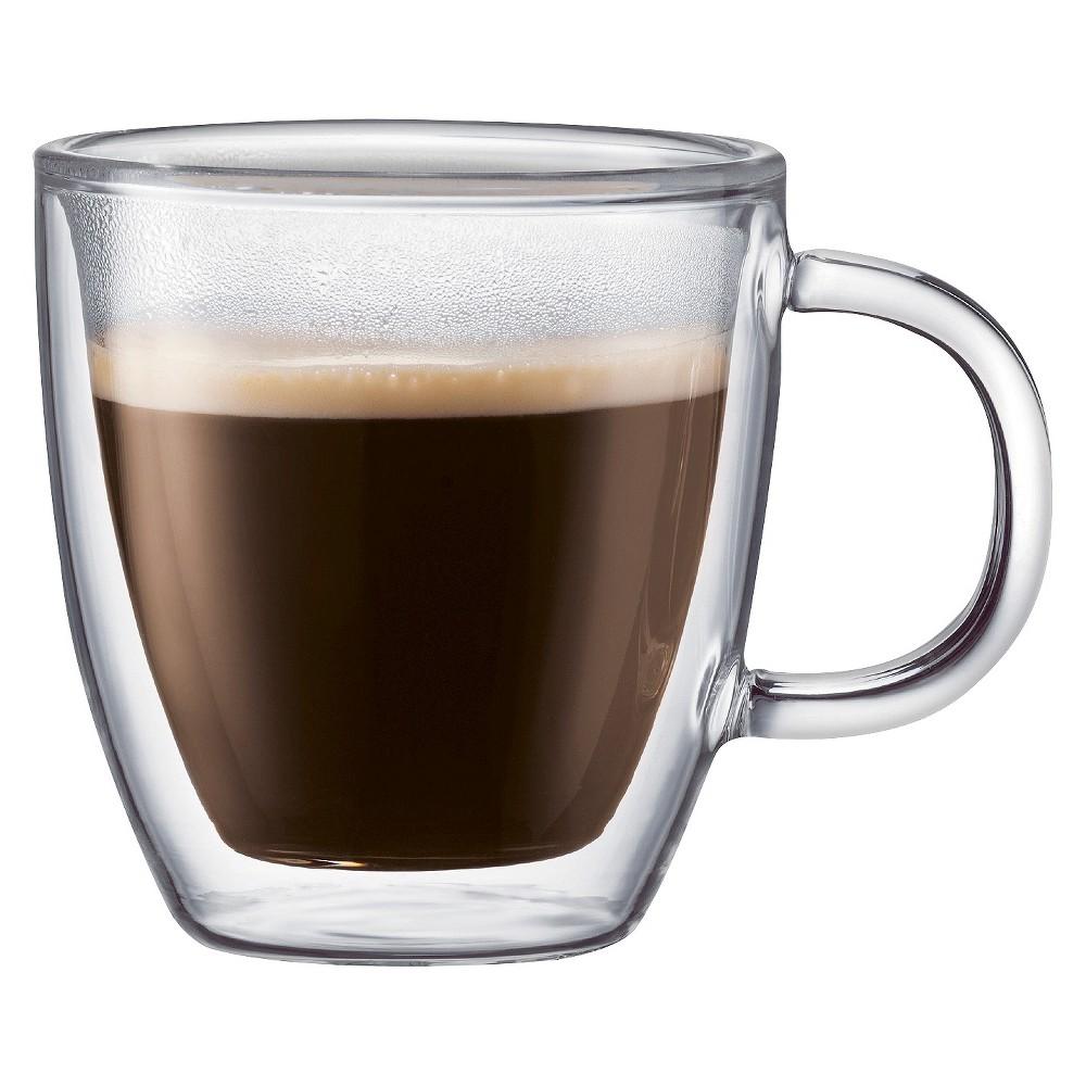 Image of Bodum Bistro 5oz 2pk Double Wall Espresso Mugs, Clear