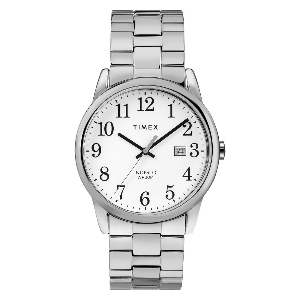 Men's Timex Easy Reader Expansion Band Watch - Silver TW2R58400JT, Size: Large