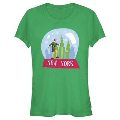 Junior's Elf New York Snow Globe T-Shirt