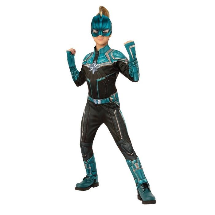 Kids' Captain Marvel Kree Suit Deluxe Halloween Costume - image 1 of 1
