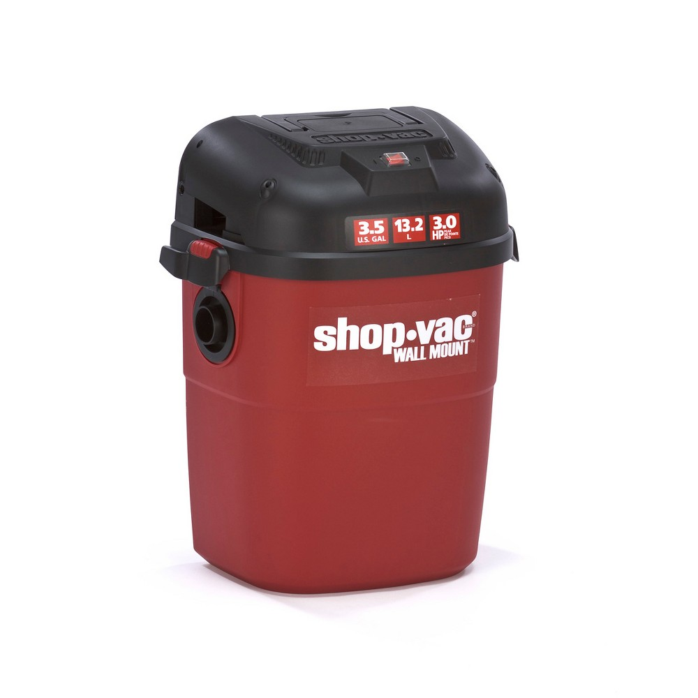 Image of Shop-Vac 3.5gal Wall Mount Vac - Red, Red Black