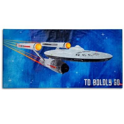 "Robe Factory LLC Star Trek: The Original Series ""Boldly Go"" Beach Towel | 60 x 30 Inches"