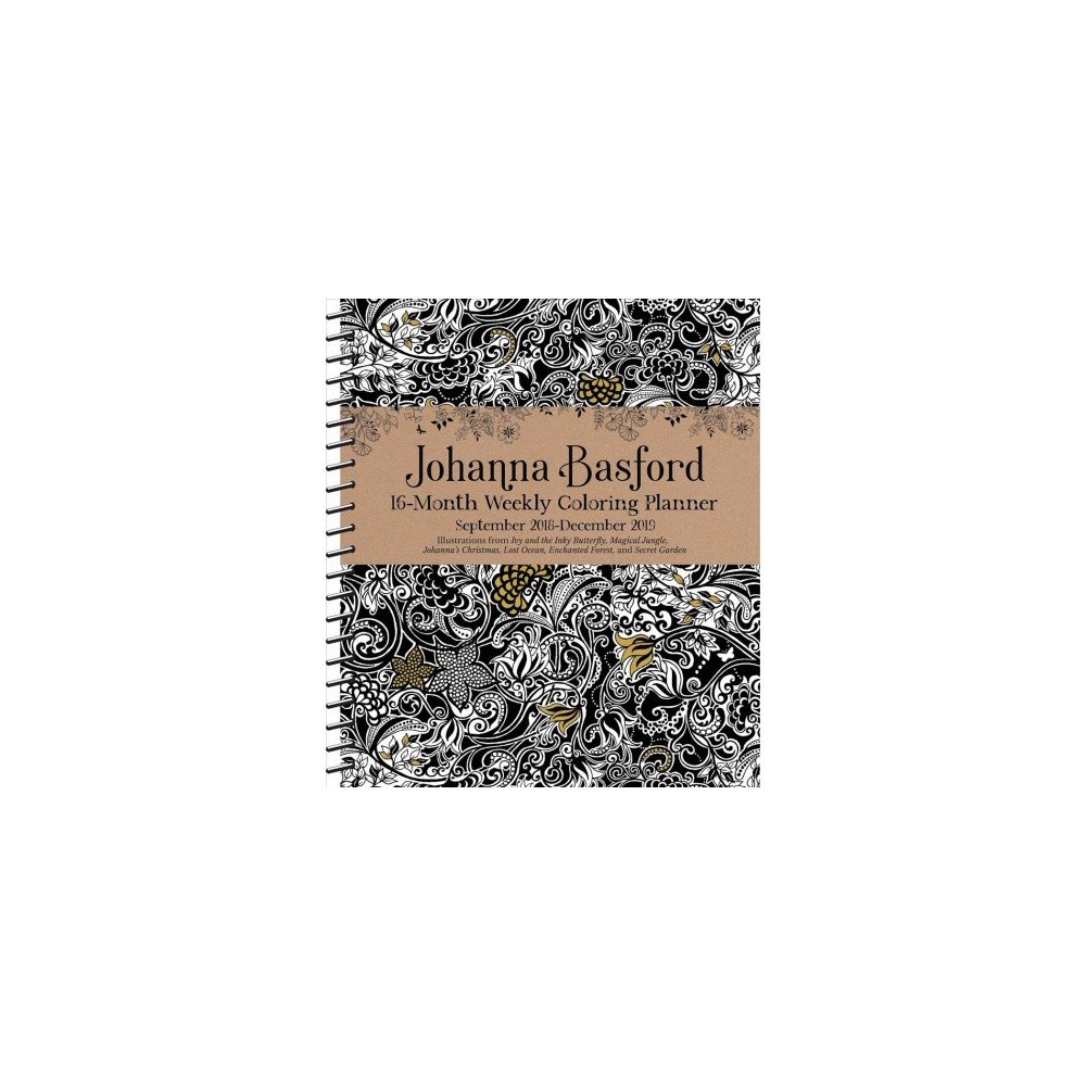 Johanna Basford Coloring 2018-2019 Planner - (Paperback)