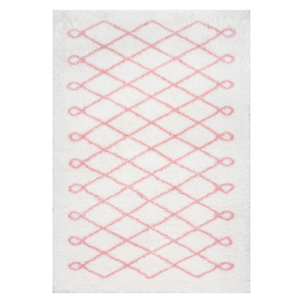 Pink Solid Loomed Area Rug 5'X8' - nuLOOM, Baby Pink