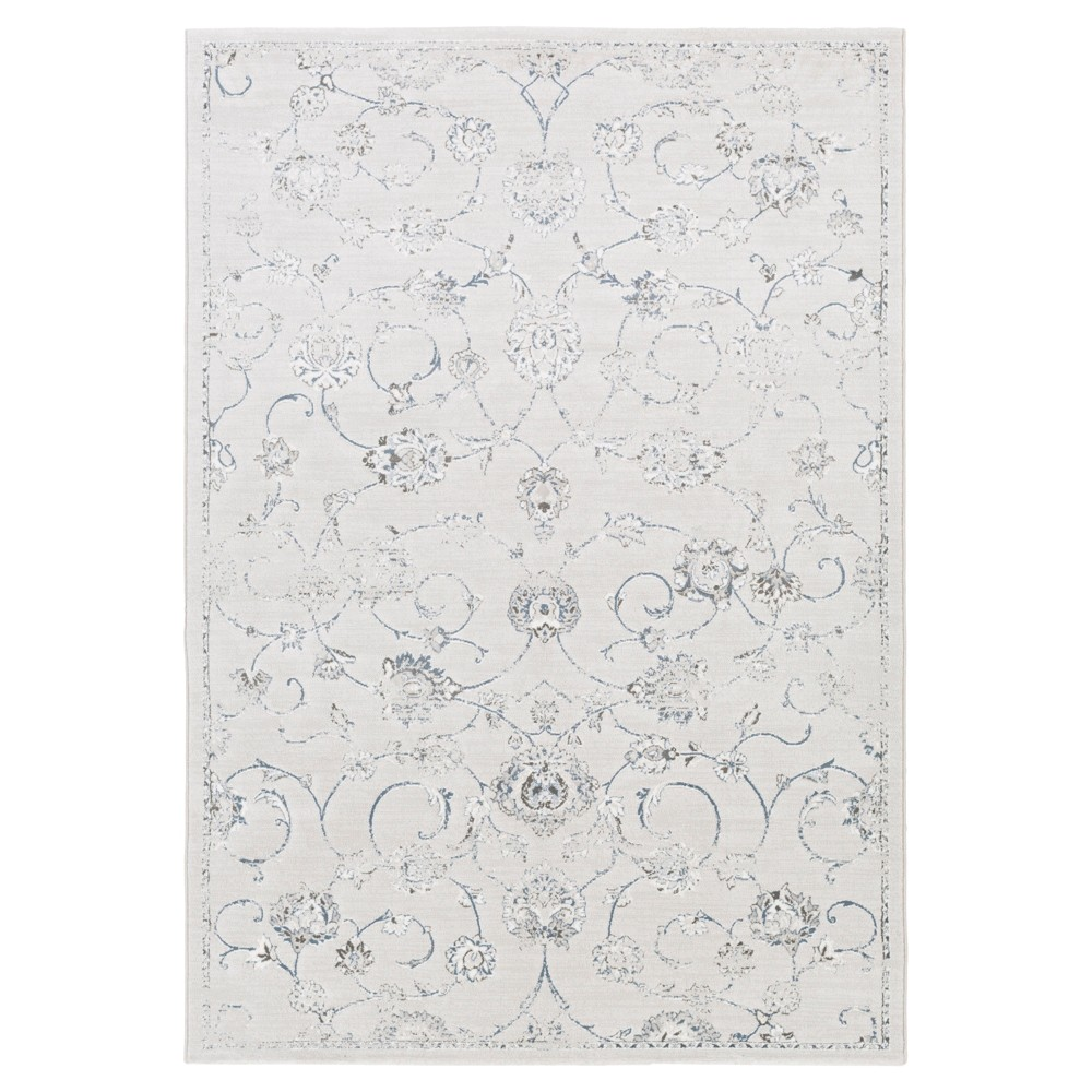 Silver/Gray Botanical Tufted Accent Rug - (4'X6') - Surya