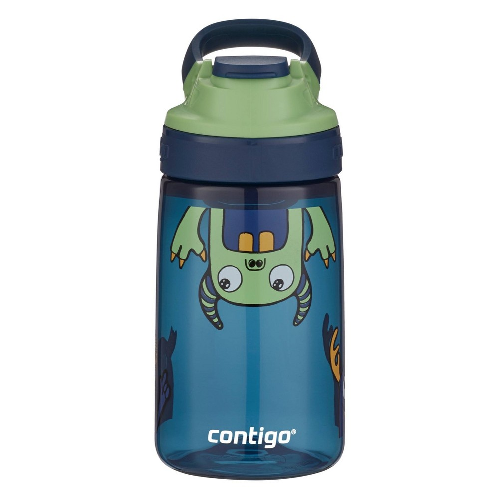 Contigo 14oz Plastic Kids Autoseal Gizmo Water Bottle Blue