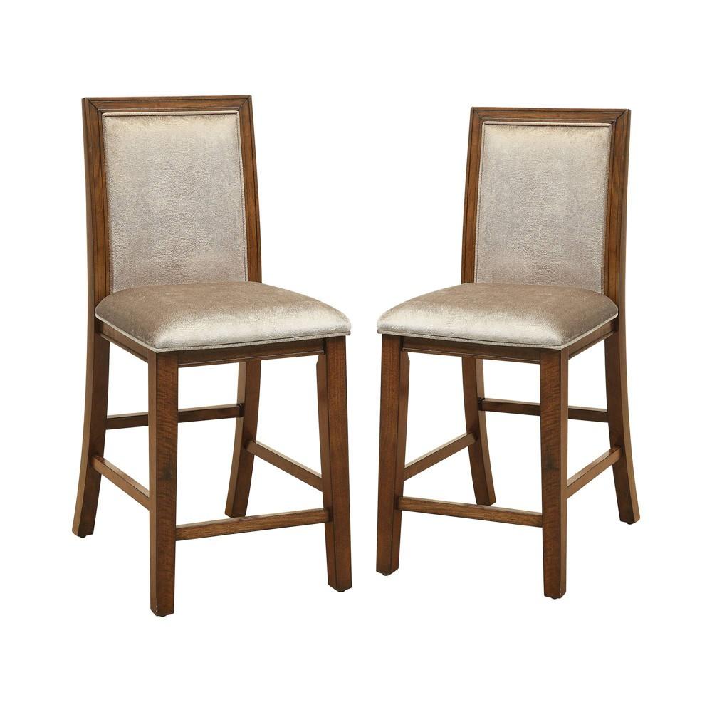 Best Shopping Set Of 2 Millan Rustic Counter Height Chair Walnut Sun Pine Brown