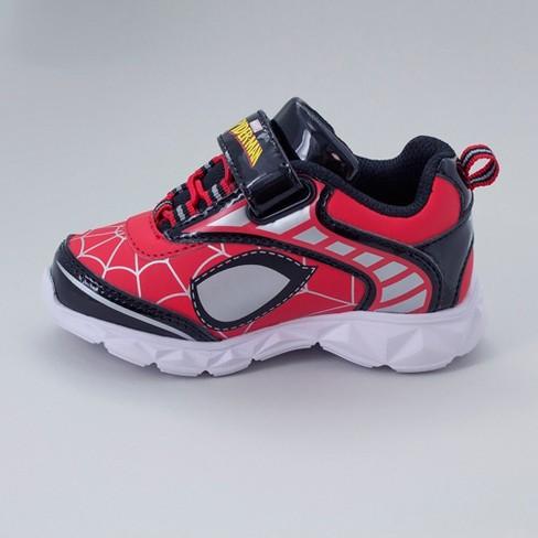 52d6fd1803c2 Toddler Boys  Marvel Spider-Man Light Up Sneakers - Red 7   Target
