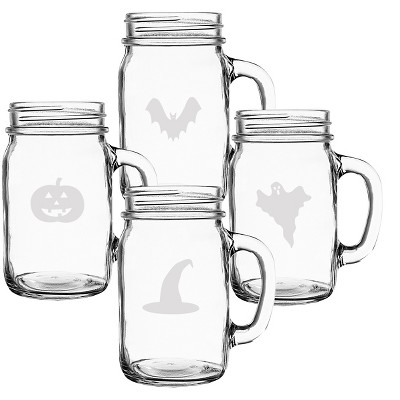 Halloween Mason Jars - 4ct