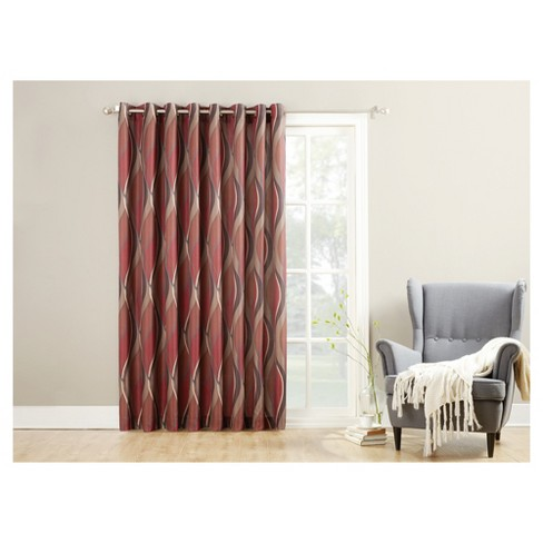 "100""x84"" Intersect Extra Wide Casual Textured Grommet Patio Door Blackout Curtain Panel Paparika - No. 918 - image 1 of 3"