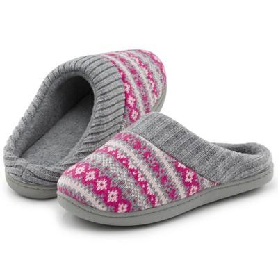 RockDove Women's Sweater Knit Hoodback Slipper