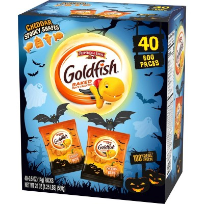 Goldfish Halloween Cheddar Baked Snack Crackers - 40ct