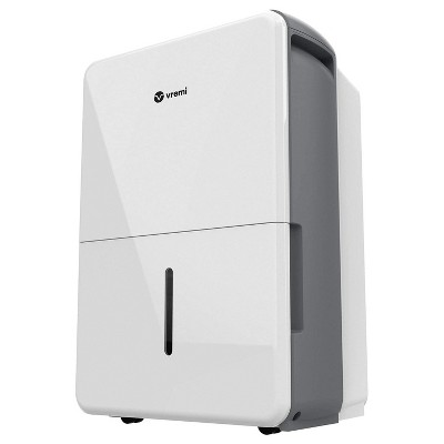 Vremi VRM010637N 22 Pint Capacity Portable Energy Star Rated Home Moisture Air Dehumidifier for Medium 1,500 Square Foot Spaces and Basements, White